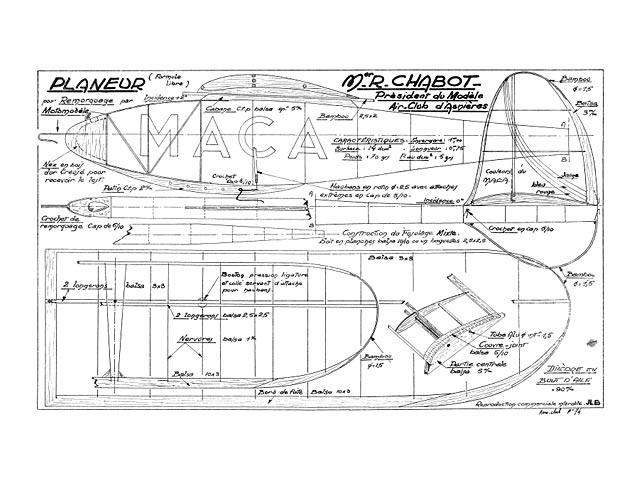 Planeur Formule Libre (oz13387) by Robert Chabot