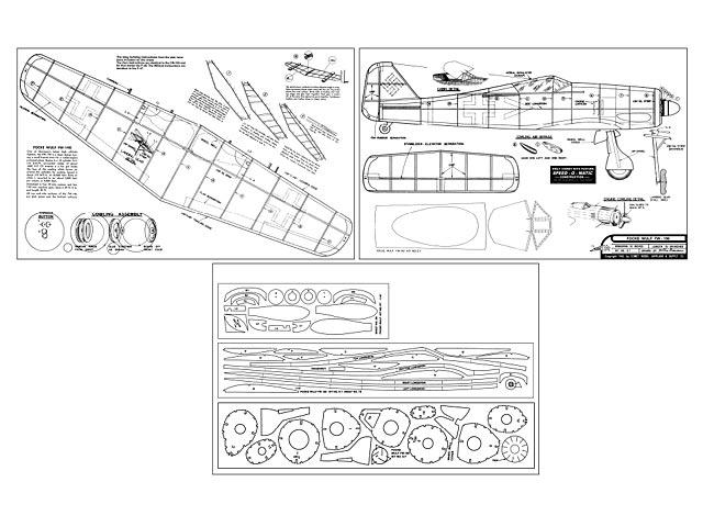 Focke-Wulf FW-190 - plan thumbnail image