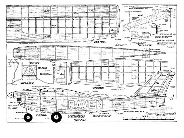 Raven and Prey (oz1354) by Don McGovern from Flying Models  1965