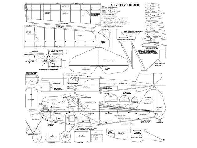 All-Star Biplane plan - Free download - Outerzone