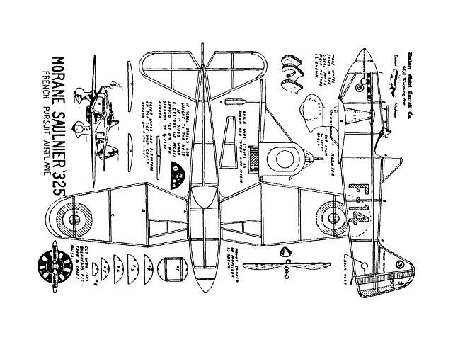 Morane Saulnier 325 (oz1384) from Dallaire Models
