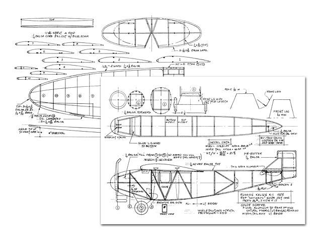 Kalinin K-1 - plan thumbnail image