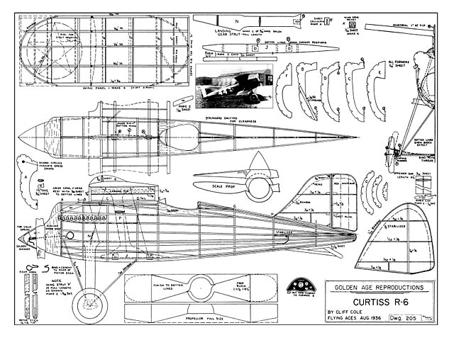 Curtiss R-6 (oz1517) by Cliff Cole from Flying Aces 1936
