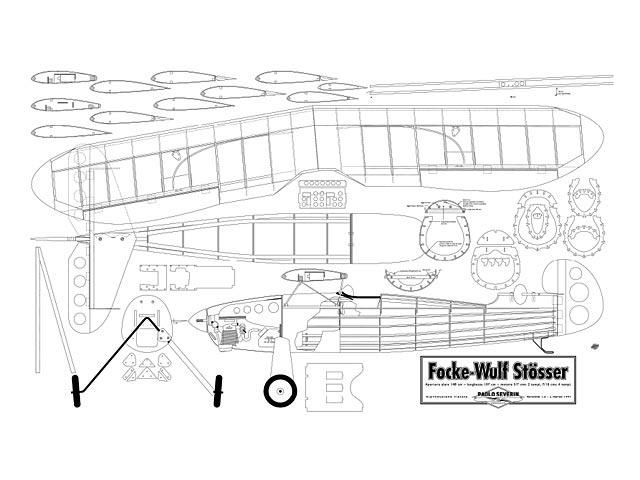 Focke-Wulf Stosser (oz1541) by Paolo Severin from Paolo Severin 1997