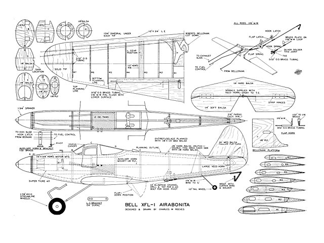 Bell XFL-1 Airabonita - plan thumbnail image