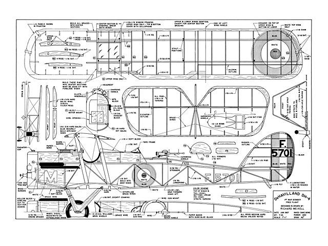 De Havilland DH-4 - plan thumbnail image