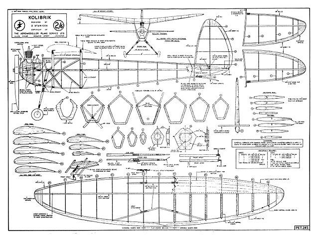 Kolibrik - Z Stanicek  - Aeromodeller - August 1946 - 32in