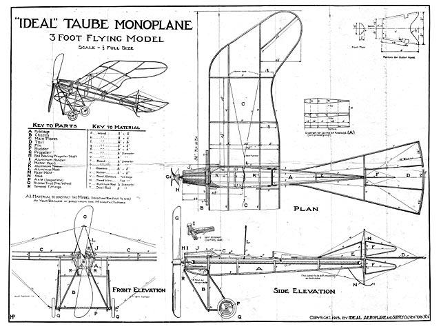 Taube Monoplane - plan thumbnail image