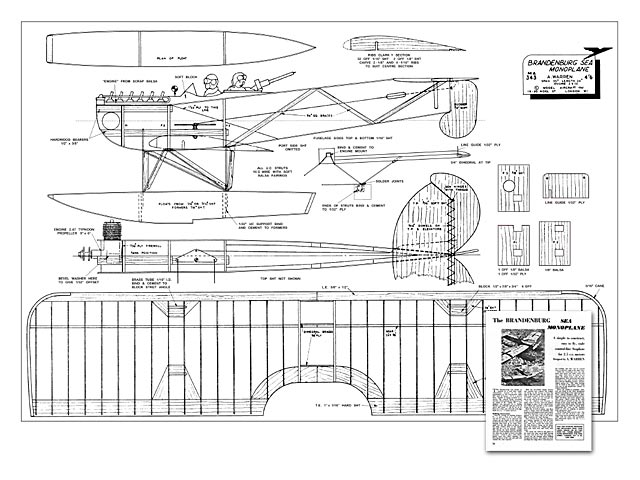 Brandenburg Sea Monoplane - plan thumbnail image