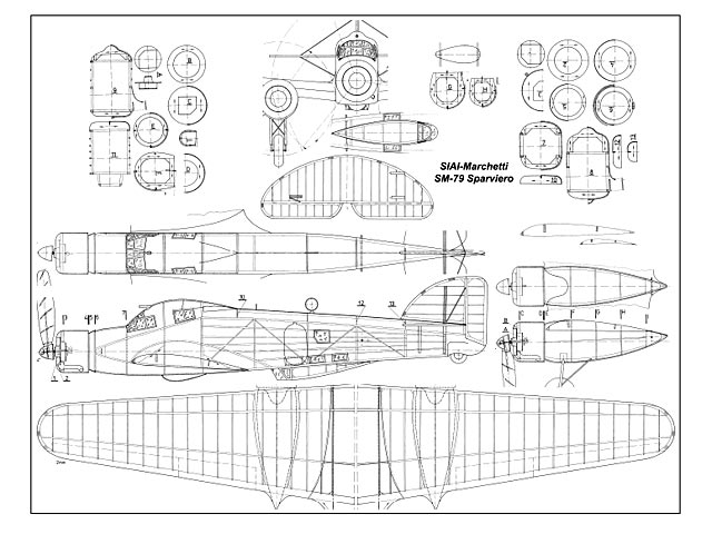 Sm 79 Sparviero Plan Free Download Outerzone