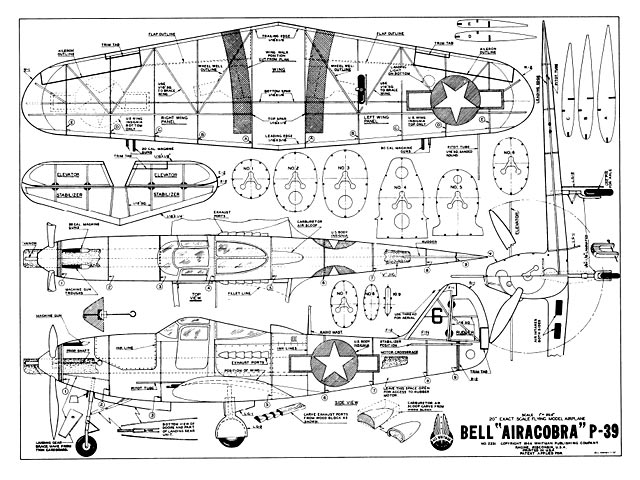 Bell P-39 Airacobra (oz1754) from Ace Whitman 1944