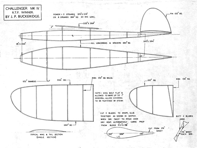 Challenger MkIV (oz1796) by JP Buckeridge from Aeromodeller 1945