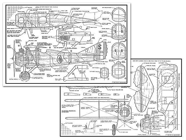 Spad XIII (oz2042) by Walt Musciano from Mechanix Illustrated 1949