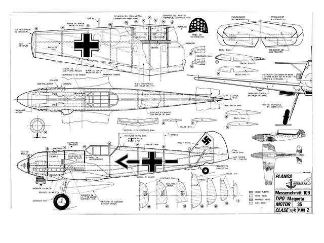 Messerchmitt 109 (oz2051) from Modelhob