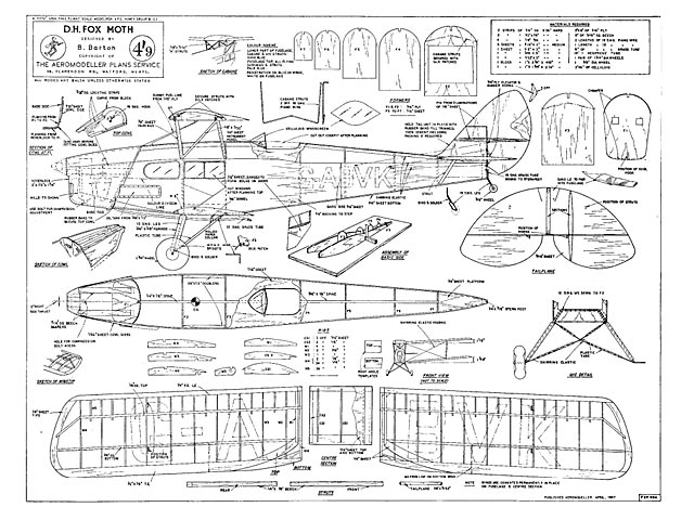 DH.83 Fox Moth - plan thumbnail image