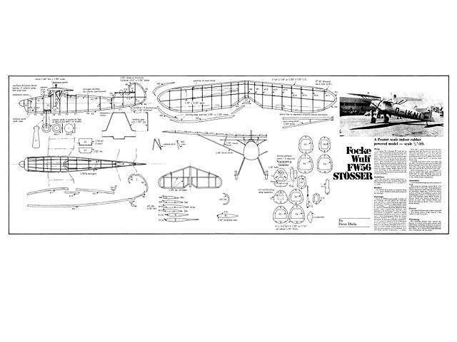 Focke Wulf FW56 Stosser (oz2346) by Dave Diels from Aeromodeller 1983