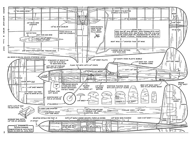 Lil Dynamite (oz2477) by Larry Scarinzi from Model Airplane News 1957