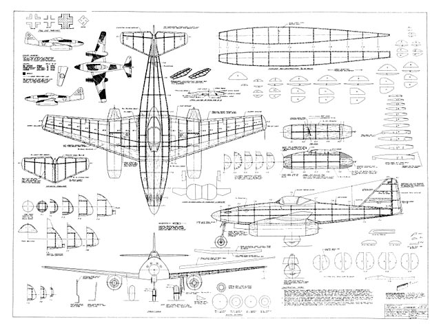 Me 262A Schwalbe plan - Free download - Outerzone