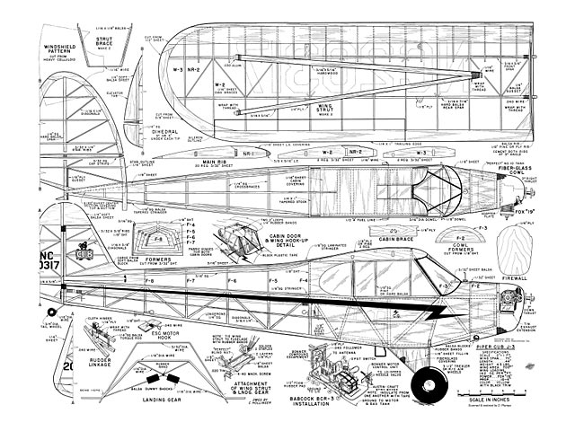 Piper Cub J-3 plan - Free download - Outerzone