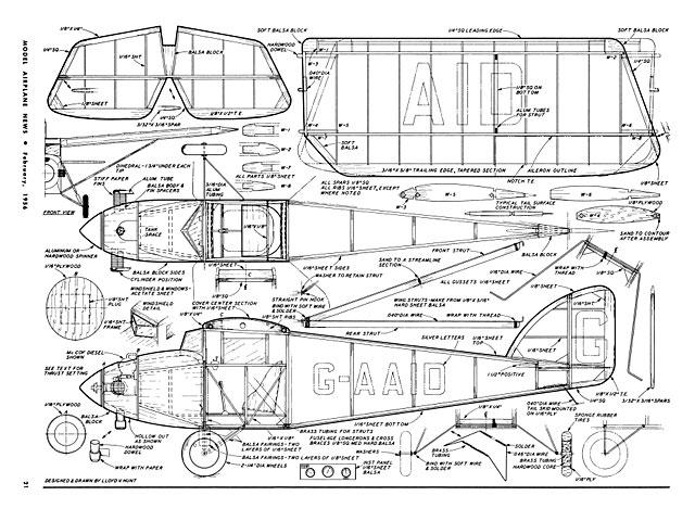 ABC Robin (oz2560) by Lloyd Hunt from Model Airplane News 1956