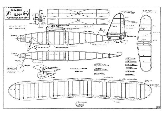 Parastar - Bob Copland - Aeromodeller - September 1974 - 38in