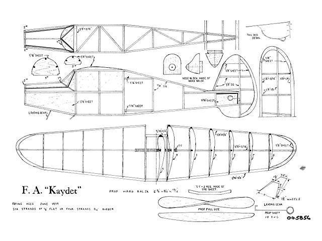 Flying Aces Kaydet - plan thumbnail image