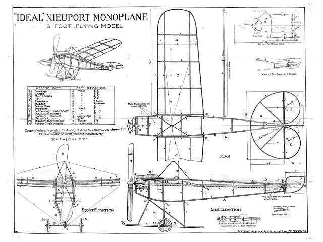 Nieuport Monoplane Plan Free Download Outerzone