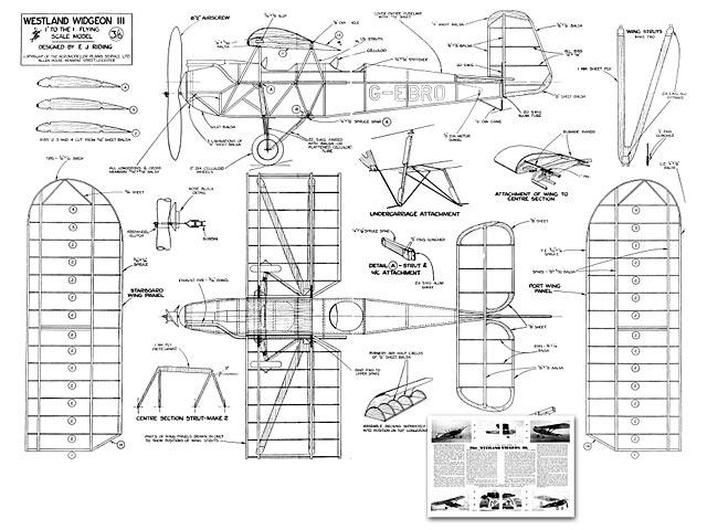 Westland Widgeon III - plan thumbnail image