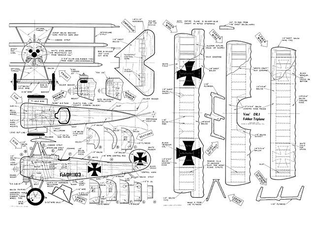 Fokker DR1 Triplane - plan thumbnail image