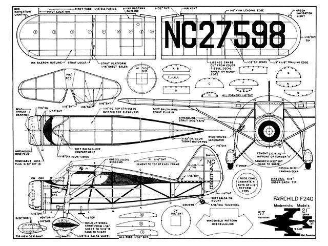 Fairchild F24G (oz2844) by Hal Swanson from Modernistic Models 1967