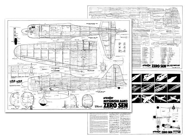 Mitsubishi A6M3 Zero Sen - plan thumbnail image