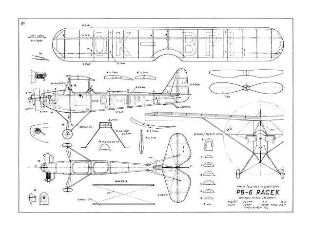PB-6 Racek (oz2931) by M Kacha from Modelar 1973