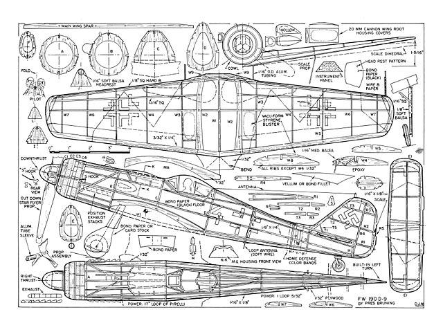 Focke Wulf 190-D9 - plan thumbnail image
