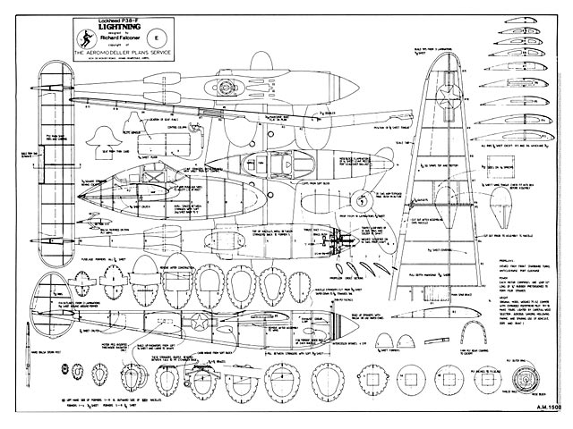P-38F Lightning plan - Free download - Outerzone
