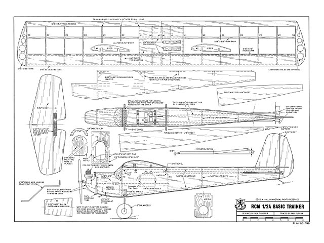 Rcm 1 2a Basic Trainer Plan Free Download Outerzone