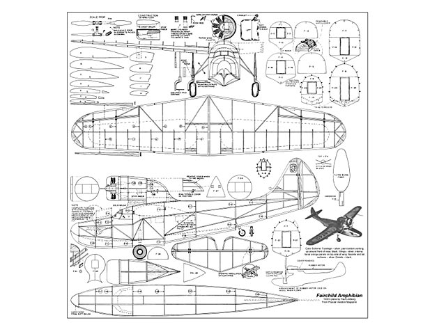 Fairchild Amphibian - plan thumbnail image