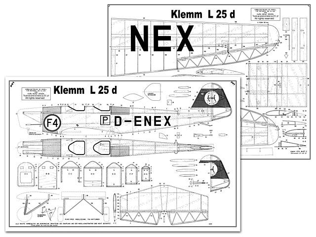 Klemm L25d - plan thumbnail image