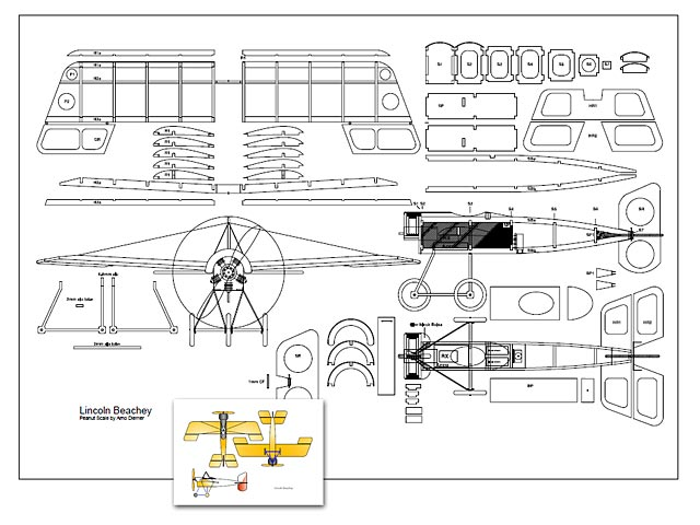 Lincoln Beachey Monoplane - plan thumbnail image