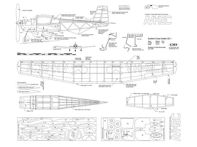 Southern Cross Aviation SC1 - plan thumbnail image