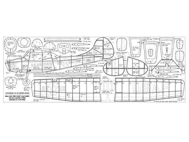 Cessna O-1E Bird Dog - plan thumbnail image
