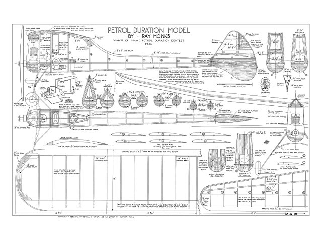 Petrol Duration Model (oz3440) by Ray Monks from Model Aircraft 1947