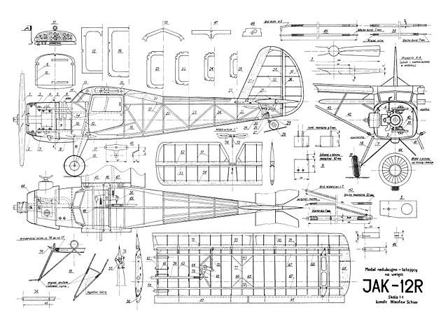 Yak-12R (oz3443) by Wieslaw Schier 1956