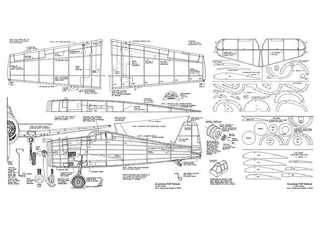 Grumman F6F Hellcat - plan thumbnail image