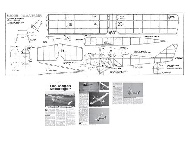 Magee Challenger - Peter Miller - Aeromodeller - 1997 - 24in