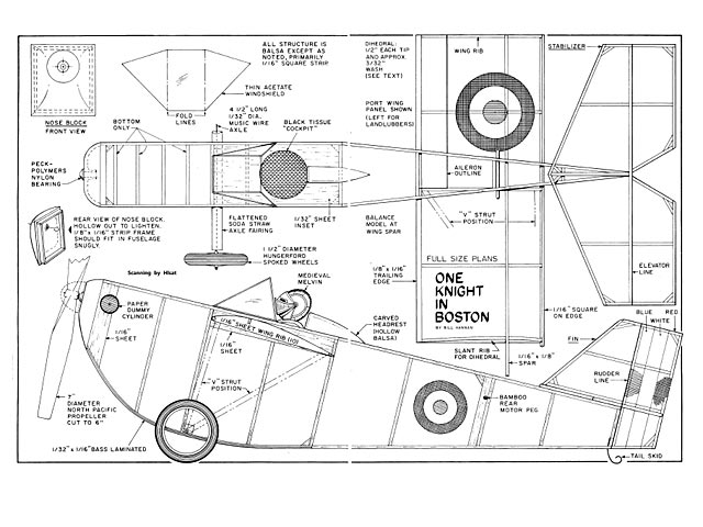 One Knight in Boston (oz3618) by Bill Hannan from Model Airplane News 1981 - plan thumbnail