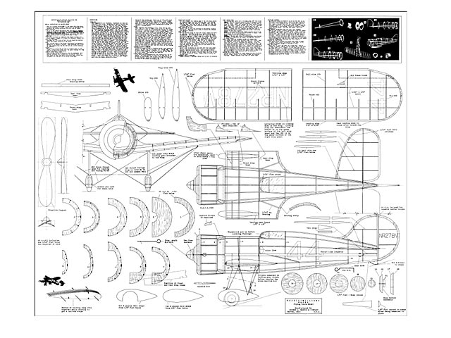 Wedell Williams Racer - plan thumbnail image