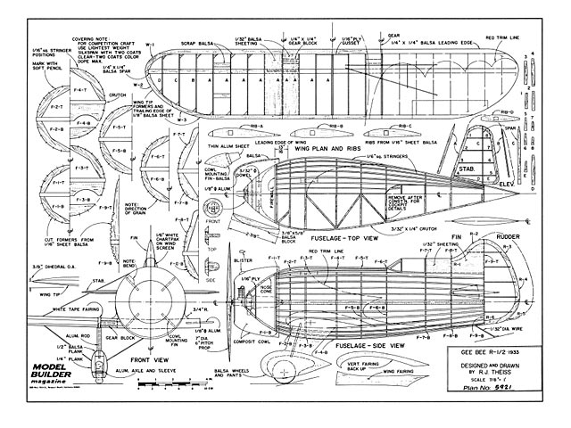 Gee Bee R1/R2 - plan thumbnail image