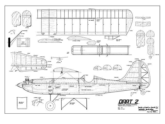 Dart 2 - Mats Johansson - Model Builder - July 1984 - 52in