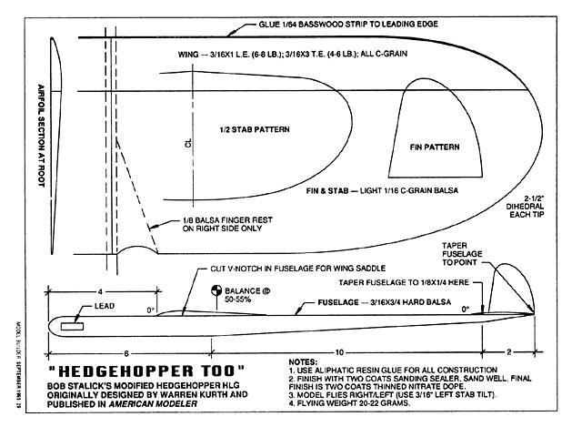 Hedgehopper Too (oz3816) by Bob Stalick, Warren Kurth from Model Builder 1995