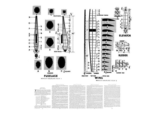 Bowlus Sailplane - plan thumbnail image